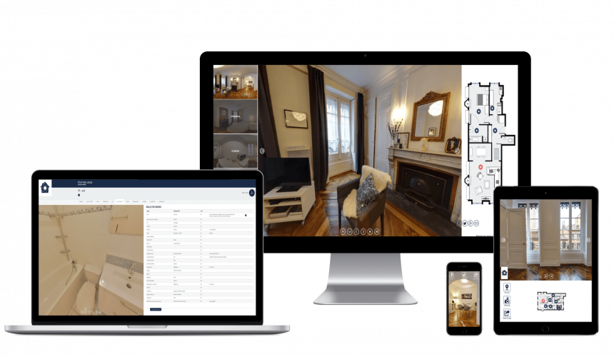 Exemple de visites virtuelles sur écrans